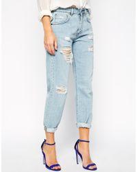 SuperTrash | Distressed Peace Jeans | Lyst