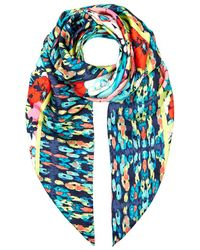 Juicy Couture Costa Rica Ikat Print Scarf multicolor - Lyst