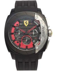 Scuderia Ferrari - 'aerodinamico' Chronograph Silicone Strap Watch - Lyst