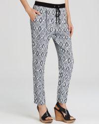 Karen Kane - Printed Drawstring Trousers - Lyst