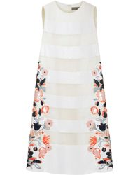 Mulberry Beige Embroidered Dress - Lyst