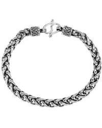 Aeravida - Tribal Chain Unique Hill Tribe Handmade Silver Bracelet - Lyst