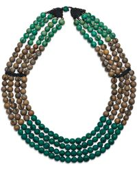 Greenola Style - Green Colorblock Acai Necklace - Lyst