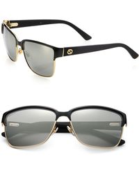Gucci | Oversized 60mm Square Sunglasses | Lyst