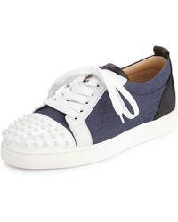 Christian Louboutin Louis Sneakers blue - Lyst