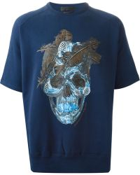 Alexander McQueen Feather Skull Print Sweatshirt - Lyst