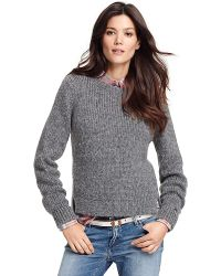 Tommy Hilfiger Metallic Luxe Sweater - Lyst