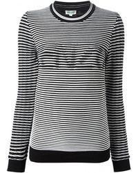 Kenzo Woven Striped Sweater - Lyst