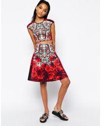 Clover Canyon Rose Matador Full Skirt In Neoprene - Lyst