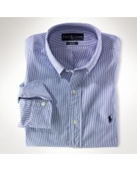 Polo Ralph Lauren Classic-fit Striped Broadcloth - Lyst