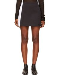 Paco Rabanne Black and White Paneled Skirt - Lyst