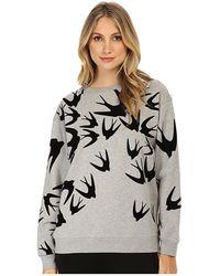 McQ by Alexander McQueen Gray Classic Sweatshirt - Lyst