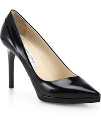 Jimmy Choo Rudy Patent Leather Asymmetrical Pumps - Lyst
