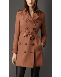 Burberry Silk Trench Coat - Lyst
