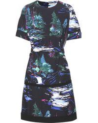 Balenciaga Printed Crepe Dress - Lyst