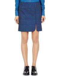 Paco Rabanne Geometric-Print Miniskirt blue - Lyst