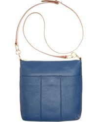 Tommy Hilfiger Th Signature Pebble Leather Crossbody - Lyst