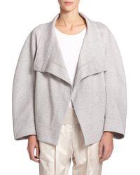 Donna Karan New York Sweatshirt Jacket - Lyst