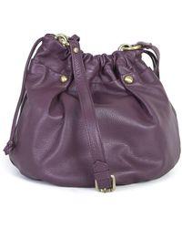 Ippolito Jo Leather Bag In Aubergine - Lyst