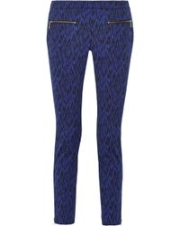 Matthew Williamson - Printed Stretch Cotton-Blend Skinny Pants - Lyst