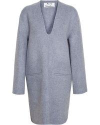 Acne Studios Oversized Wool-Cashmere Dress - Lyst