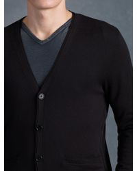 John Varvatos Button Front Cardigan Sweater - Lyst