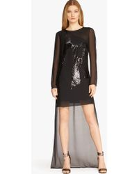 Halston | Embellished Silk Dress  | Lyst