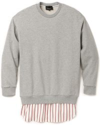 3.1 Phillip Lim Combo Shirttail Pullover - Lyst