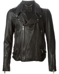 Diesel Black Gold 'Labond' Biker Jacket - Lyst
