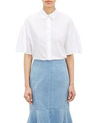 Kenzo Stripe Puff-Sleeve Shirt - Lyst