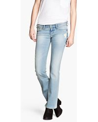 H&M Bootcut Low Jeans - Lyst