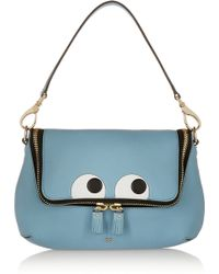 Anya Hindmarch Maxi Zip Embossed Textured-leather Shoulder Bag - Lyst