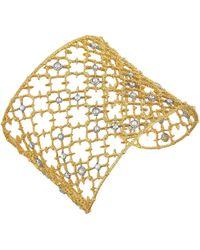 Alexis Bittar Crystal Studded Spur Lace Cuff Bracelet - Lyst
