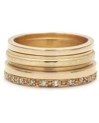 Anna Sheffield Stacking Suite No. 01 gold - Lyst