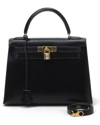 Hermès HermãˆS Kelly 28 Sellier Handbag black - Lyst