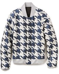 Public School Hound'S-Tooth Woven Jacquard Bomber Jacket - Lyst