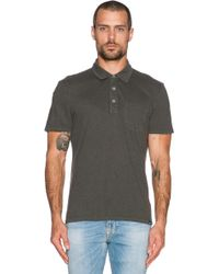 AG Adriano Goldschmied Cliff Polo Shirt gray - Lyst