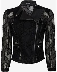 Yigal Azrouel Lace Moto Jacket - Lyst