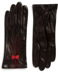 Georges Morand - Bow Appliqué Kid Leather Gloves - Lyst
