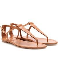 Loro Piana | Paynes Leather Sandals | Lyst