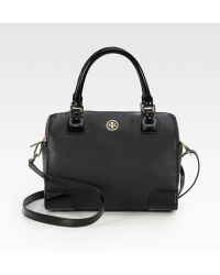 Tory Burch Robinson Middy Satchel - Lyst