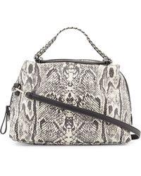 Halston Heritage Small Leather Satchel Bag black - Lyst