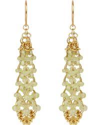 Mallary Marks Chrysoberyl  Gold Eiffel Tower Earrings - Lyst