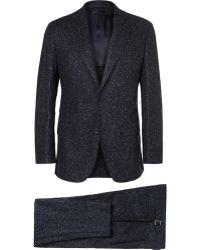 Thom Sweeney Slub Wool Three-piece Suit - Lyst