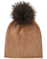 Kreisi Couture Papalina Shearling Hat With Pompom - Lyst