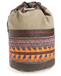 TOMS - 'Rebel' Canvas & Leather Bucket Bag - Lyst