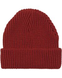 Topshop Womens Easy Knit Beanie  Rust - Lyst