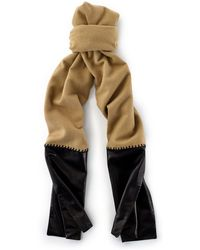 Ralph Lauren Cashmere Leather-ends Scarf - Lyst