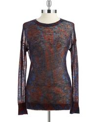 DKNY Patterned Mohair Sweater - Lyst