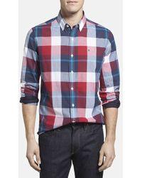 Victorinox - 'trent' Tailored Fit Plaid Sport Shirt - Lyst